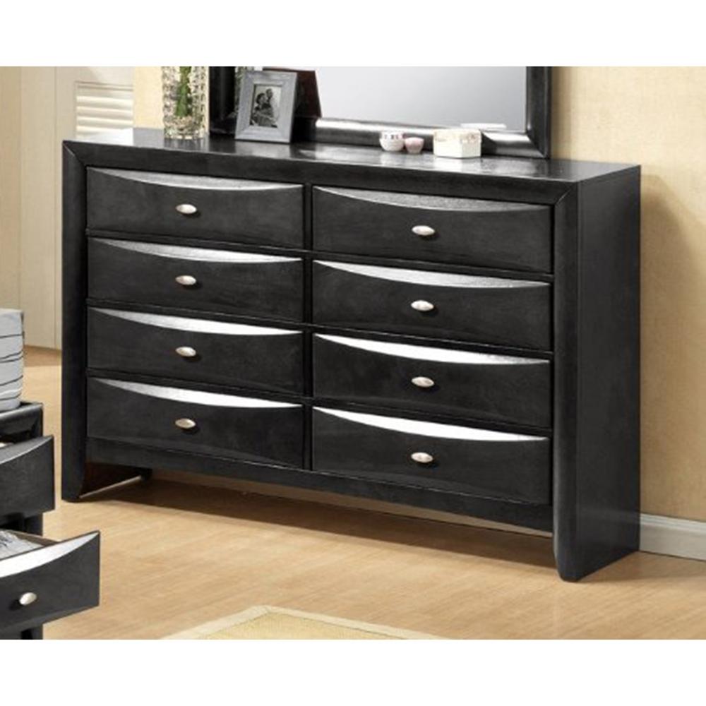 Linda bedroom set in black dcg stores for B m bedroom furniture