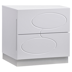 Lola Nightstand - High Gloss White