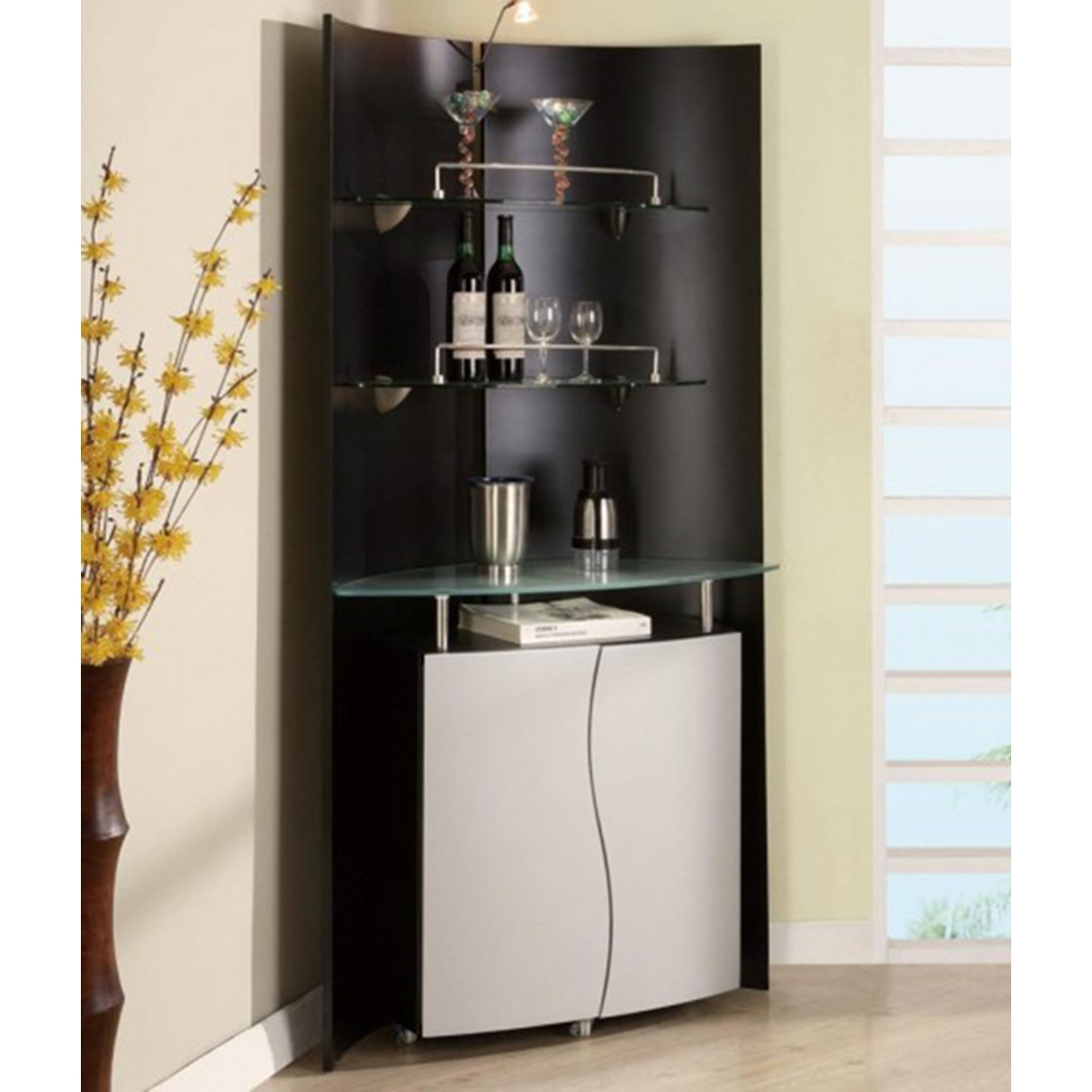 at home bar furniture. Home Bar Unit In Black And Silver At Furniture O