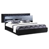Manhattan Bed, High Gloss Black - GLO-MANHATTAN-961-M-BED