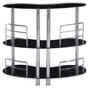 Maya Bar Table - Black Glass, Chrome Legs - GLO-MBT02-BL-M