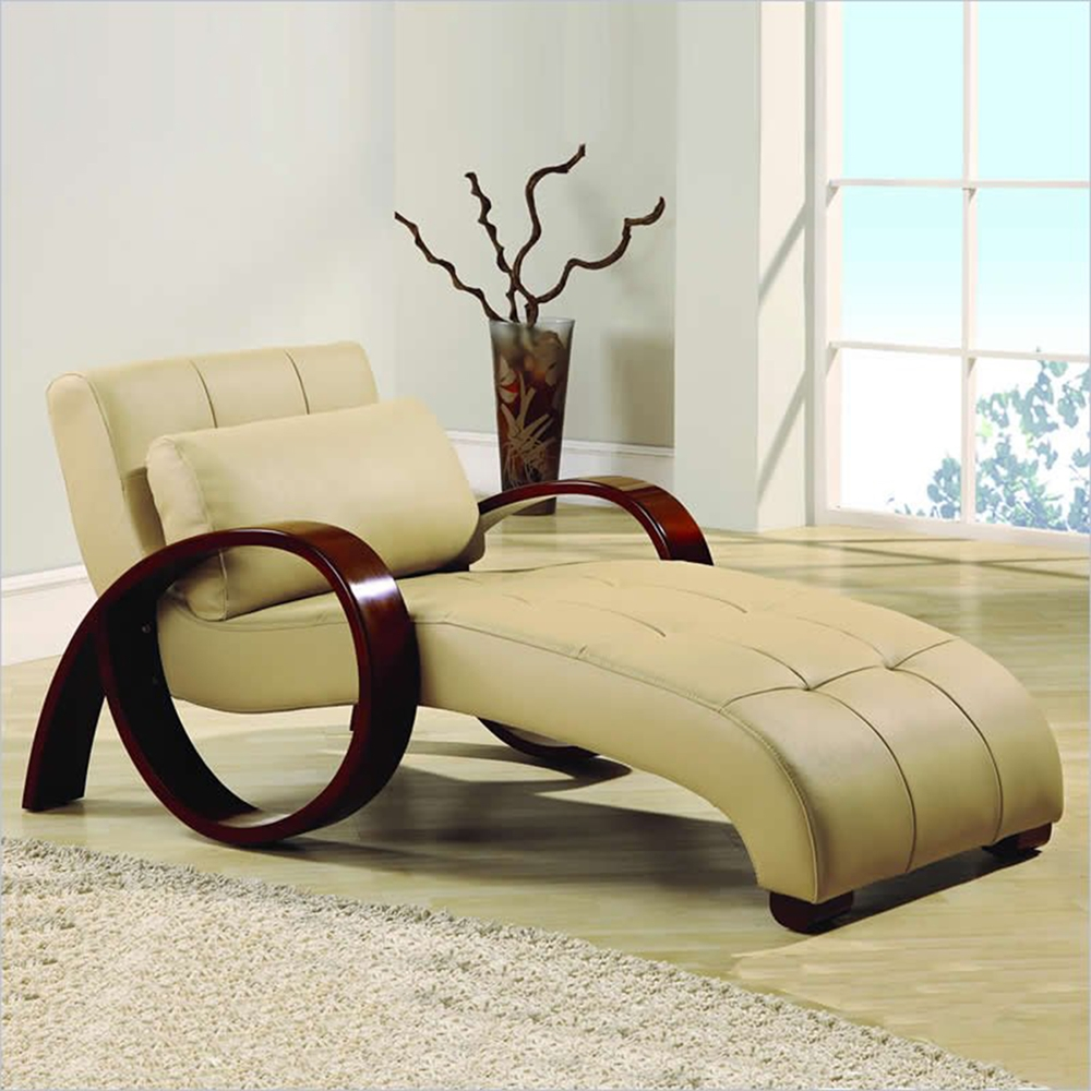 Relax leather chaise lounge in cappuccino dcg stores for Relax chaise longue