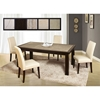 Marble Stone Dining Table - Wenge - GLO-ROSE-WOOD-D040DT-M