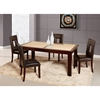 Marble Stone Dining Table, Mahogany - GLO-SUNSET-GOLD-D042DT-M