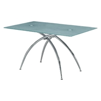 Isobel Frosted Glass Top Dining Table