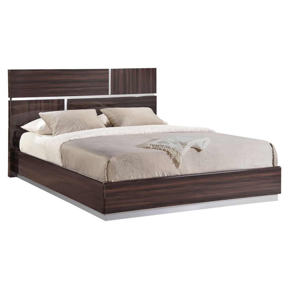 tribeca bedroom set in high gloss brown wood grain glo tribeca 110
