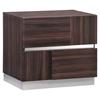 Tribeca Bedroom Set in High Gloss Brown Wood Grain | DCG Stores