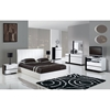 Trinity Bed in White - GLO-TRINITY-BED
