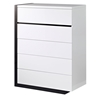 Trinity Chest - White with Black Glossy Finish - GLO-TRINITY-CH