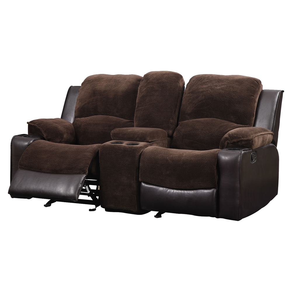 Cassidy Console Reclining Loveseat Chocolate Brown Dcg Stores