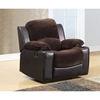 Cassidy Rocker Recliner Chair in Chocolate/Brown - GLO-U1301-CHMP-CHOC-R-R-M