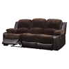Cassidy Reclining Sofa - Chocolate/Brown - GLO-U1301-CHMP-CHOC-R-S-M