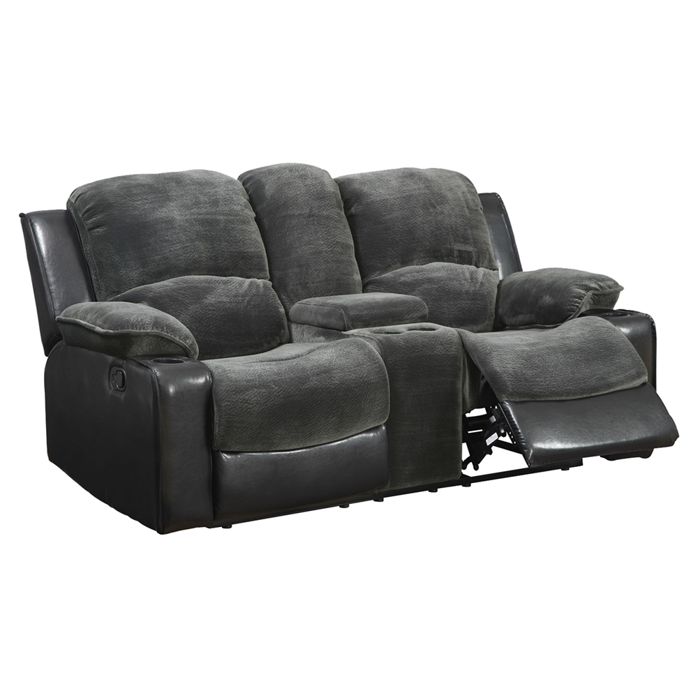 Cassidy Gray Black Console Reclining Loveseat Dcg Stores