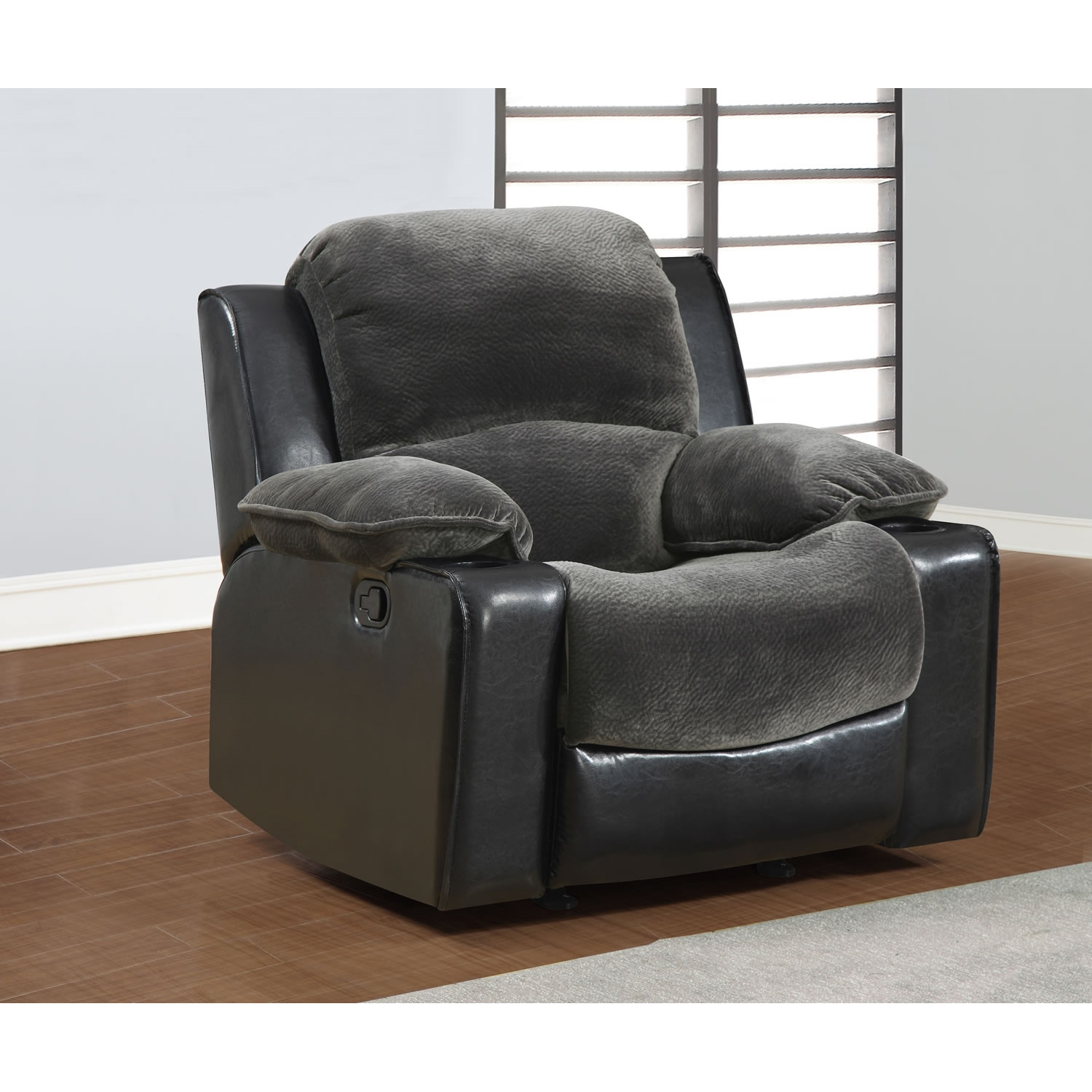 Cassidy Sofa Set in Gray/Black - GLO-U1301-CHMP-THU-SET