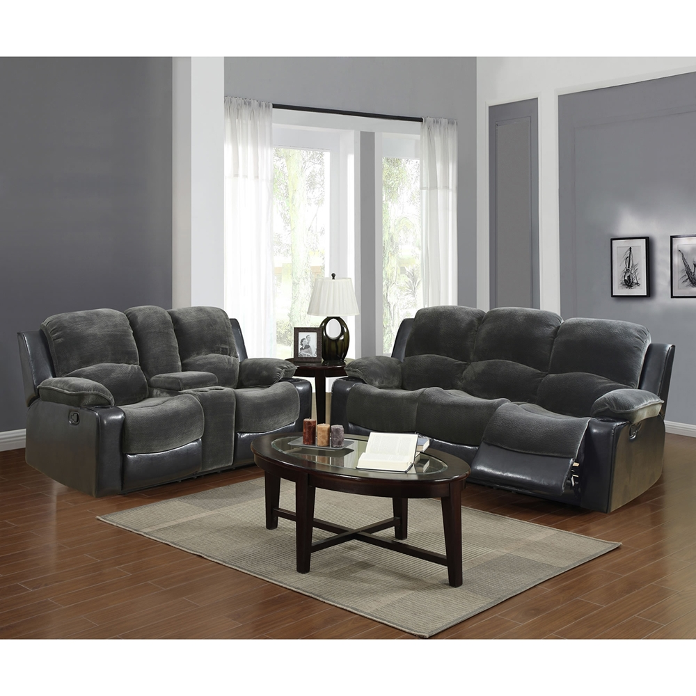 Sectional Gray Sofa Set: Cassidy Sofa Set In Gray/Black