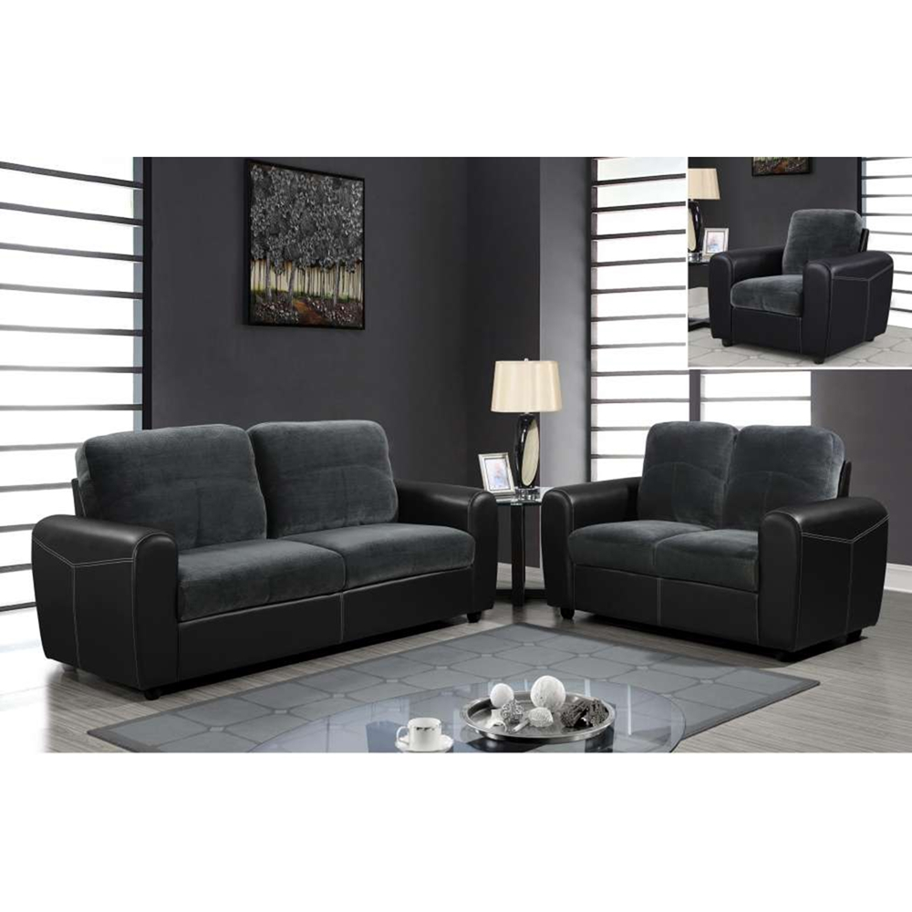 Joel sofa set in champion thunder dcg stores for Online living room furniture shopping