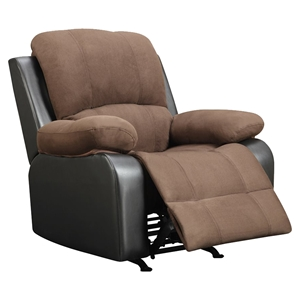 Alondra Rocker Recliner Chair - Rider Chocolate