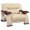 Valerie Sofa Set - Cappuccino Leather - GLO-U2033-LV-CAP-SET