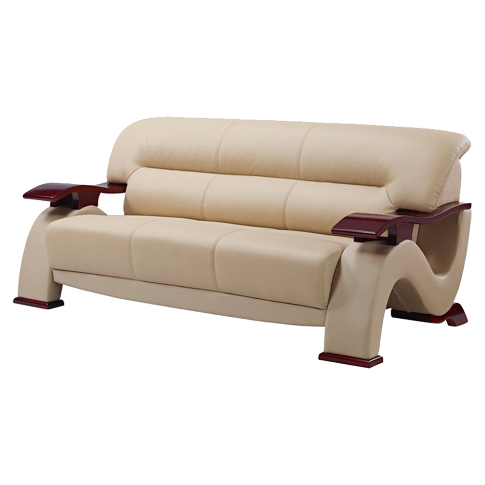 Global Furniture Usa Retailers: Valerie Bonded Leather Sofa In Cappuccino Upholstery