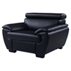 Jazmin Sofa Set with Headrest in Natalie Black - GLO-U4571-R6U6-SET