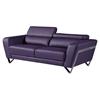 Braden Sofa Set With Headrest - Natalie Purple - GLO-U7120-R6U6-P