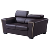 Mikayla Loveseat with Headrest Function in Chocolate/Dark Cappuccino - GLO-U7190-L6R-L