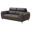 Jalen Leather Sofa in Dark Khaki/Natalie Cappuccino - GLO-U7390-R6U6-DK-S