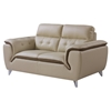 Jalen Sofa Set - Khaki/ Dark Cappuccino Leather - GLO-U7390-R6U6-SET