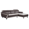 Cassandra 2-Piece Sectional Sofa - Brown/Light Gray Bonded Leather