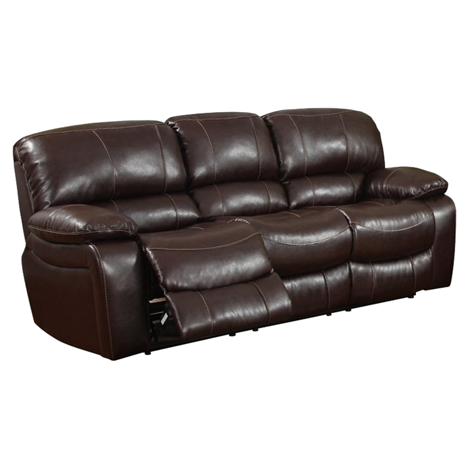 Burgundy Leather Reclining Sofa - GLO-U8122-2007-R-S-M