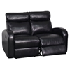 Genesis Reclining Sofa Set, Black - GLO-U8129-SET