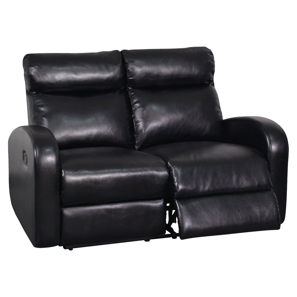 Genesis Reclining Loveseat Black Leather Dcg Stores