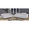 Charlotte Gray Leather Sofa Set