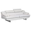 Charlotte Sofa in Light Gray Leather - GLO-U8141-LT-GREY-S