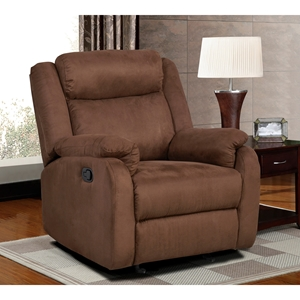 Dakota Glider Recliner Chair in Chocolate