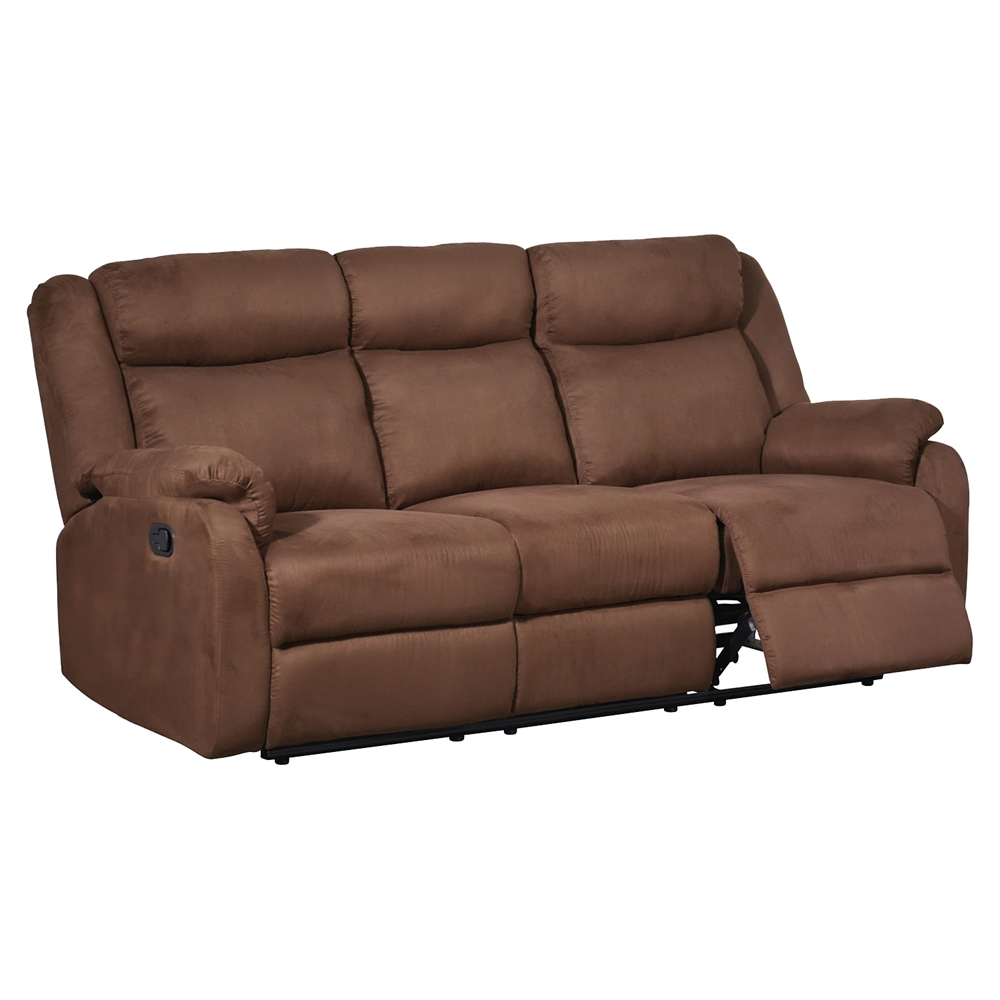 dakota reclining sofa chocolate dcg stores. Black Bedroom Furniture Sets. Home Design Ideas