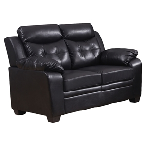 Daniela Bonded Leather Loveseat - Chocolate