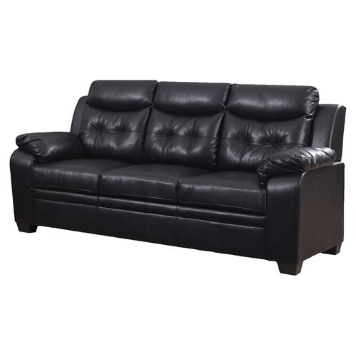 Daniela Chair: Daniela Bonded Leather Sofa - Chocolate