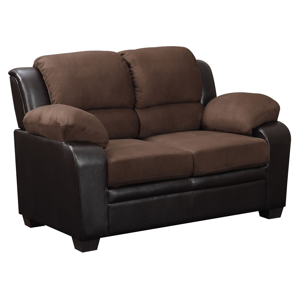 Fernando Loveseat In Two Tone Brown Dcg Stores