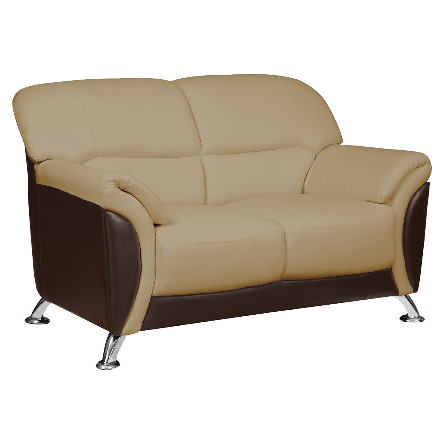 Maxwell Sofa Set in Cappuccino/Chocolate - GLO-U9103-CAPP-CHOC-SET