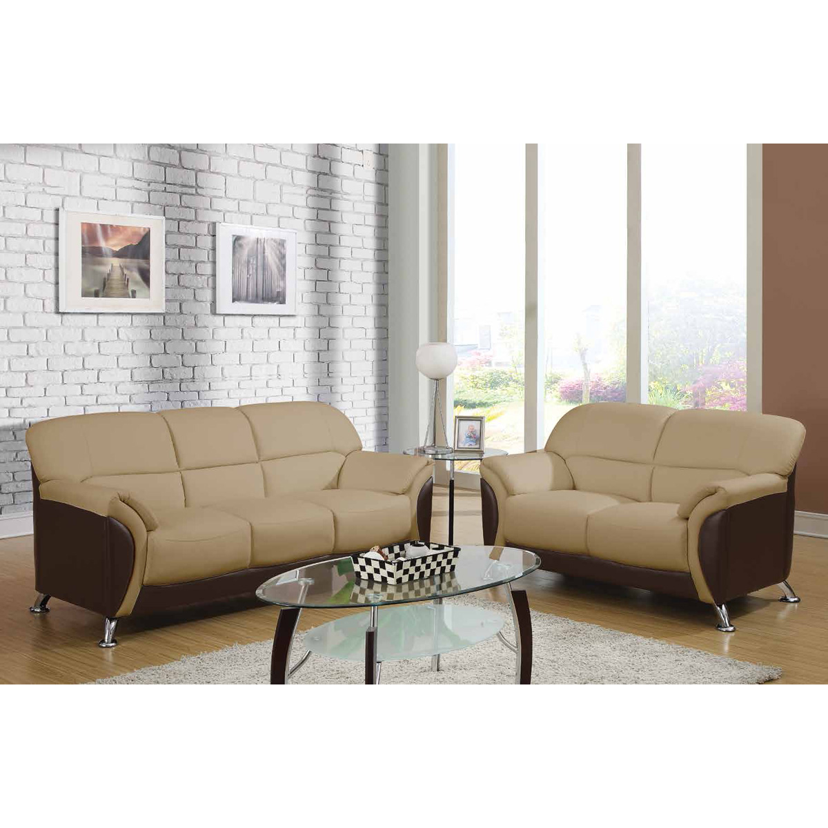 Sofa Free Delivery: Maxwell Sofa Set In Cappuccino/Chocolate