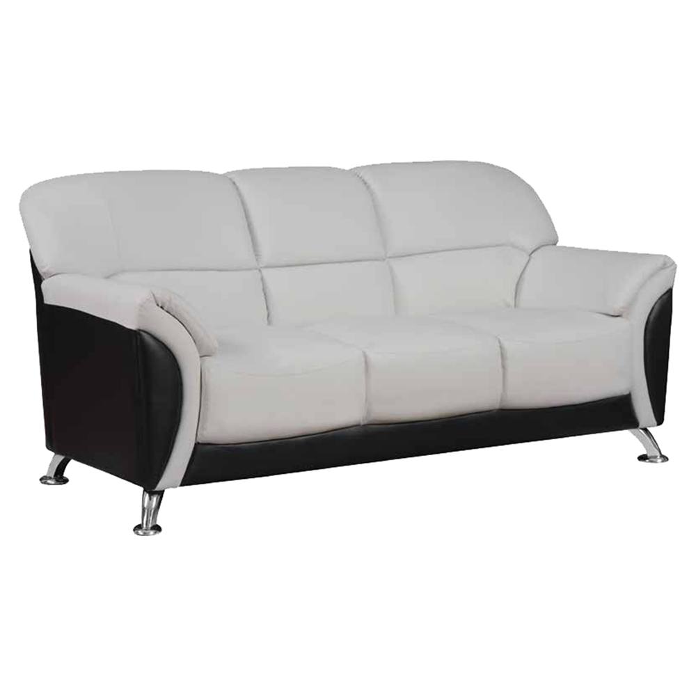 Maxwell sofa set in light gray black dcg stores for Black and grey sofa set