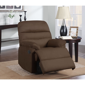 Alexandria Rocker Recliner Chair - Chocolate