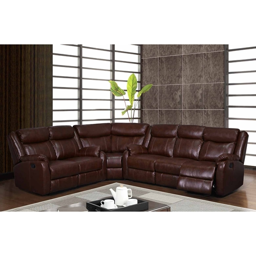 Nolan 3 piece sectional sofa brown leather dcg stores for 3 piece brown leather sectional sofa