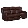 Nolan Leather Reclining Sofa in Brown - GLO-U9303C-BR-R-S-M