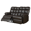 Jacqueline Reclining Loveseat in Dark Brown Bonded Leather - GLO-U94710-R-LS-M