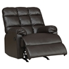 Jacqueline Bonded Leather Rocker Recliner Chair - Dark Brown - GLO-U94710-RRC-M