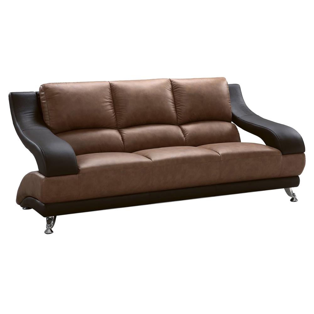 Nathaniel sofa set brown and dark brown dcg stores for Tan sofa set