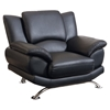 Jesus Chair in Black Leather - GLO-U9908-BL-CH-W-LEGS-M