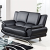 Jesus Sofa Set in Black Leather - GLO-U9908-BL-M-SET